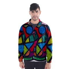 Stained Glass Color Texture Sacra Wind Breaker (men)