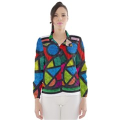 Stained Glass Color Texture Sacra Wind Breaker (Women)