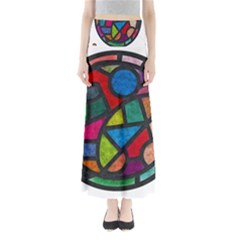 Stained Glass Color Texture Sacra Full Length Maxi Skirt