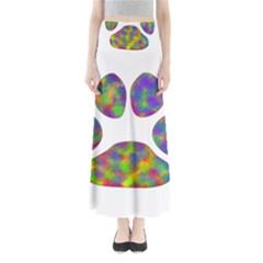 Paw Full Length Maxi Skirt