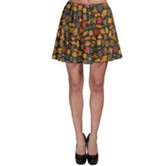 Pattern Background Ethnic Tribal Skater Skirt