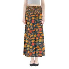 Pattern Background Ethnic Tribal Full Length Maxi Skirt