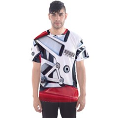 Footrests Motorcycle Page Men s Sports Mesh Tee