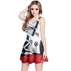 Footrests Motorcycle Page Reversible Sleeveless Dress