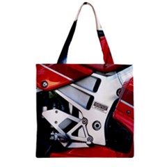 Footrests Motorcycle Page Zipper Grocery Tote Bag