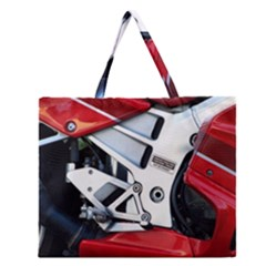 Footrests Motorcycle Page Zipper Large Tote Bag