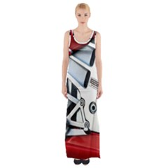 Footrests Motorcycle Page Maxi Thigh Split Dress