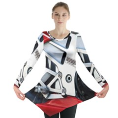 Footrests Motorcycle Page Long Sleeve Tunic