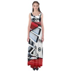 Footrests Motorcycle Page Empire Waist Maxi Dress