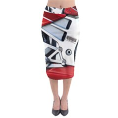 Footrests Motorcycle Page Midi Pencil Skirt