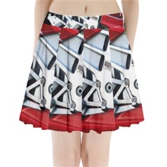 Footrests Motorcycle Page Pleated Mini Skirt