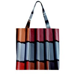 Shingle Roof Shingles Roofing Tile Zipper Grocery Tote Bag