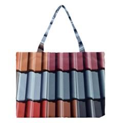 Shingle Roof Shingles Roofing Tile Medium Tote Bag