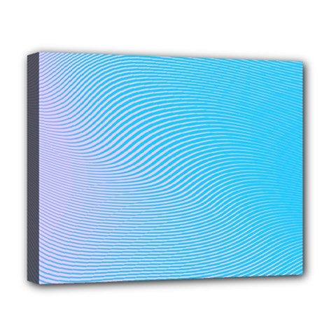 Background Graphics Lines Wave Deluxe Canvas 20  x 16