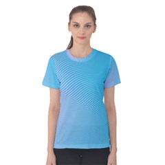 Background Graphics Lines Wave Women s Cotton Tee
