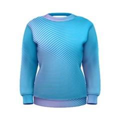 Background Graphics Lines Wave Women s Sweatshirt