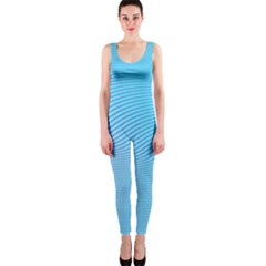 Background Graphics Lines Wave Onepiece Catsuit