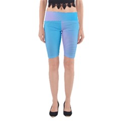 Background Graphics Lines Wave Yoga Cropped Leggings