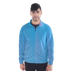 Background Graphics Lines Wave Wind Breaker (men)