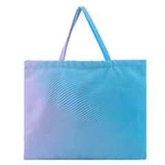 Background Graphics Lines Wave Zipper Large Tote Bag