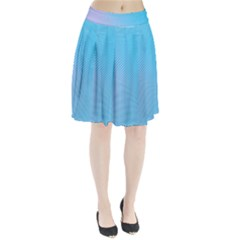 Background Graphics Lines Wave Pleated Skirt