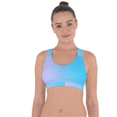 Background Graphics Lines Wave Cross String Back Sports Bra