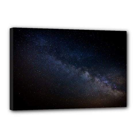 Cosmos Dark Hd Wallpaper Milky Way Canvas 18  X 12