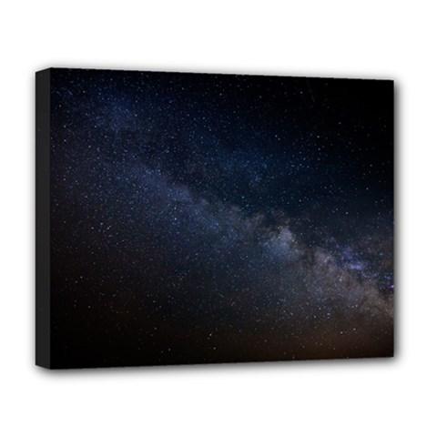 Cosmos Dark Hd Wallpaper Milky Way Deluxe Canvas 20  X 16