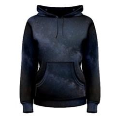 Cosmos Dark Hd Wallpaper Milky Way Women s Pullover Hoodie