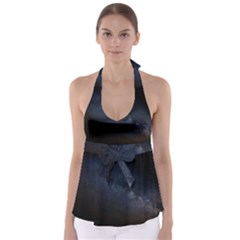 Cosmos Dark Hd Wallpaper Milky Way Babydoll Tankini Top
