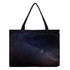 Cosmos Dark Hd Wallpaper Milky Way Medium Tote Bag