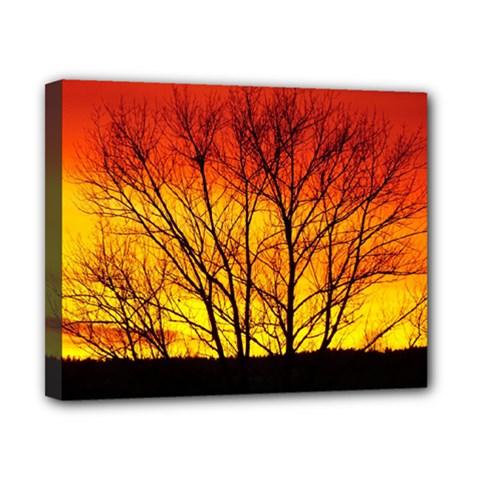 Sunset Abendstimmung Canvas 10  x 8