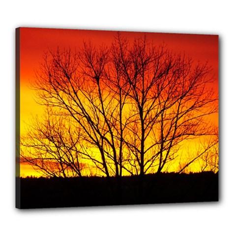 Sunset Abendstimmung Canvas 24  X 20
