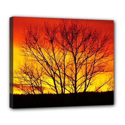 Sunset Abendstimmung Deluxe Canvas 24  X 20