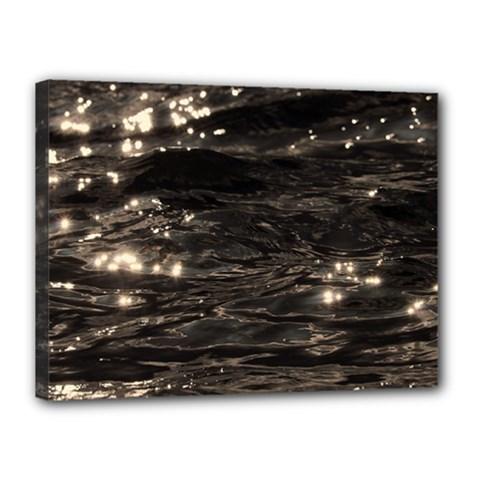 Lake Water Wave Mirroring Texture Canvas 16  X 12