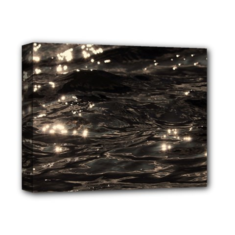 Lake Water Wave Mirroring Texture Deluxe Canvas 14  X 11