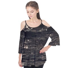 Lake Water Wave Mirroring Texture Flutter Tees