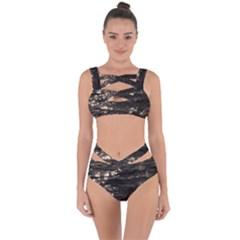 Lake Water Wave Mirroring Texture Bandaged Up Bikini Set