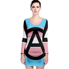 Anarchist Pride Long Sleeve Bodycon Dress