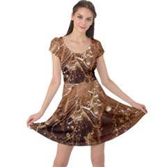 Ice Iced Structure Frozen Frost Cap Sleeve Dresses