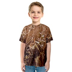 Ice Iced Structure Frozen Frost Kids  Sport Mesh Tee