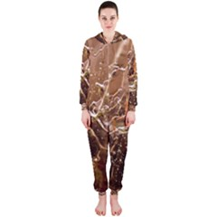 Ice Iced Structure Frozen Frost Hooded Jumpsuit (ladies)