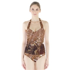 Ice Iced Structure Frozen Frost Halter Swimsuit