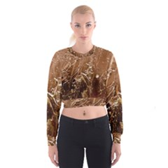 Ice Iced Structure Frozen Frost Cropped Sweatshirt
