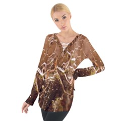 Ice Iced Structure Frozen Frost Women s Tie Up Tee