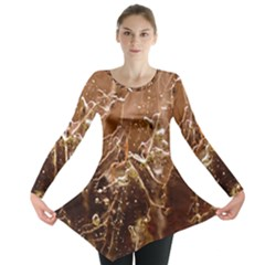 Ice Iced Structure Frozen Frost Long Sleeve Tunic