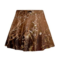 Ice Iced Structure Frozen Frost Mini Flare Skirt