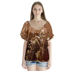 Ice Iced Structure Frozen Frost Flutter Sleeve Top