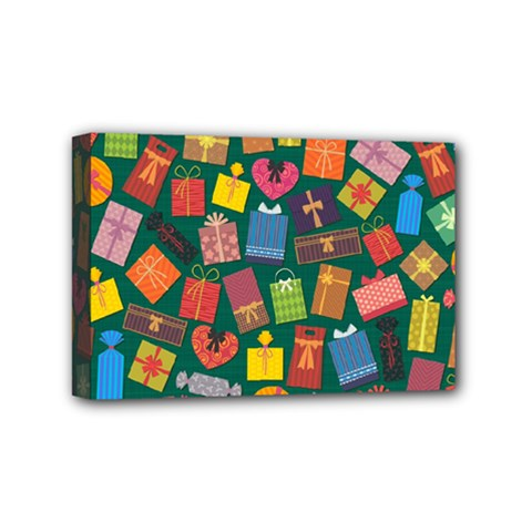 Presents Gifts Background Colorful Mini Canvas 6  x 4