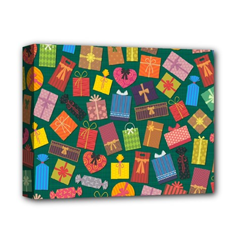 Presents Gifts Background Colorful Deluxe Canvas 14  x 11